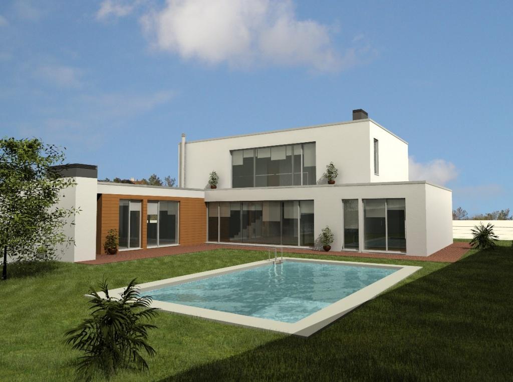 Moradia com piscina e jardim murado em Porto de Mós